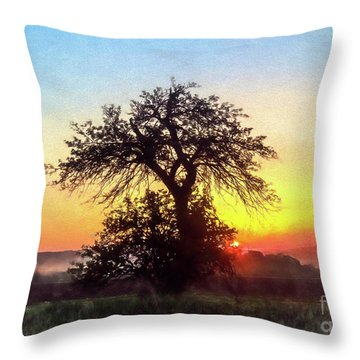 Early Morning Sunrise Throw Pillow by Jim Lepard