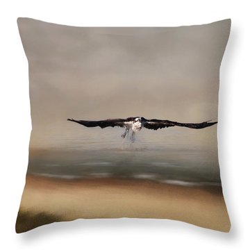 Throw Pillow featuring the photograph Early Morning Takeoff by Kim Hojnacki