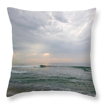 Early Morning Thunderstorm Throw Pillow