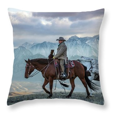 Early October Hunt Wild West Photography Art By Kaylyn Franks Throw Pillow