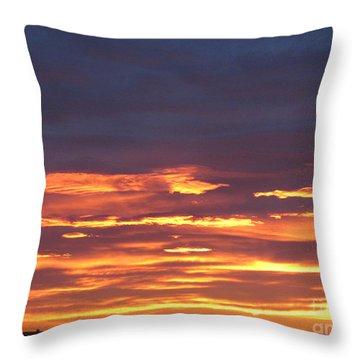 Early Prairie Sunrise Throw Pillow