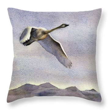 Throw Pillow featuring the painting Early Riser by Kris Parins