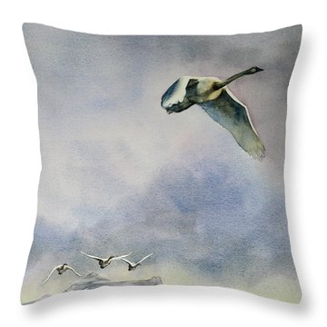 Throw Pillow featuring the painting Early Risers by Kris Parins