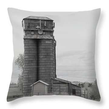 Early Silos Throw Pillow