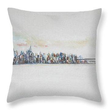 Early Skyline Throw Pillow