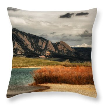 Early Snow On Fall Throw Pillow