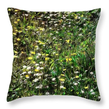 Early Spring Beauty In Umbria Throw Pillow