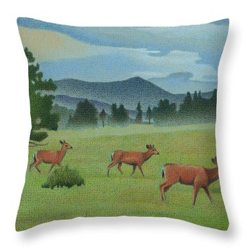 Early Spring Evergreen Throw Pillow