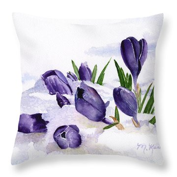 Early Spring In Montana Throw Pillow