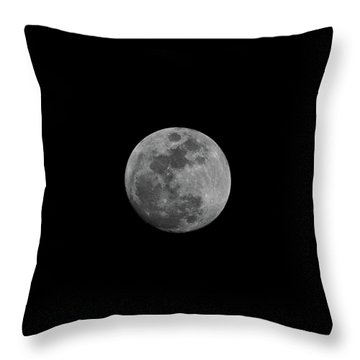 Early Spring Moon 2017 Throw Pillow