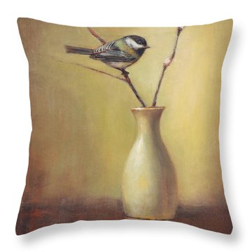 Early Spring Still Life Throw Pillow