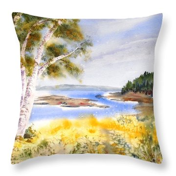 Early Summer Birches Throw Pillow