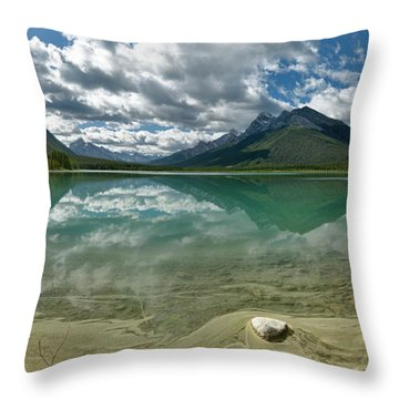 Early Summer Day On Goat Pond Throw Pillow by Sebastien Coursol