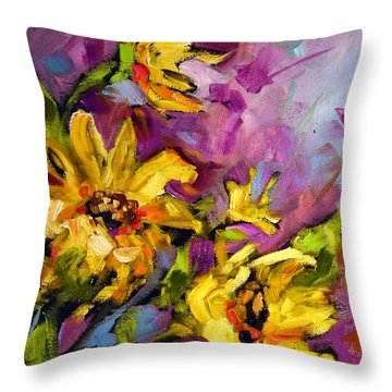 Early Sunflowers Throw Pillow
