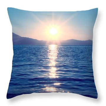 Early Sunset Throw Pillow
