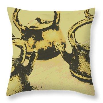 Early Vintage Tea Throw Pillow