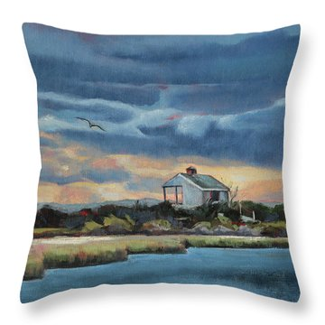 Early Winter Nocturne Throw Pillow