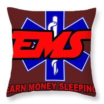 Earn Money Sleeping Throw Pillow