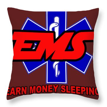 Earn Money Sleeping Throw Pillow