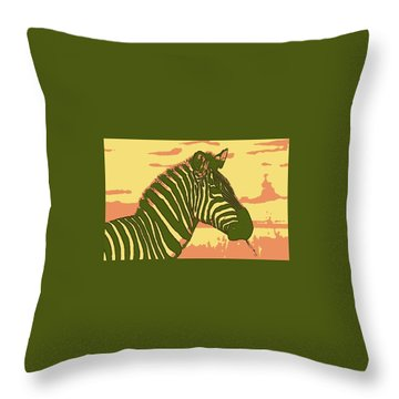 Earned Stripes Throw Pillow