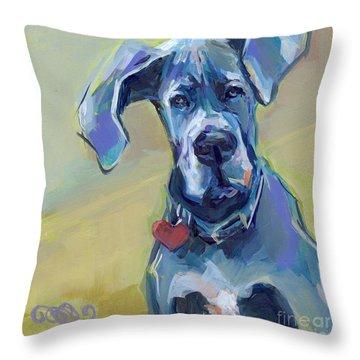 Ears Throw Pillow by Kimberly Santini