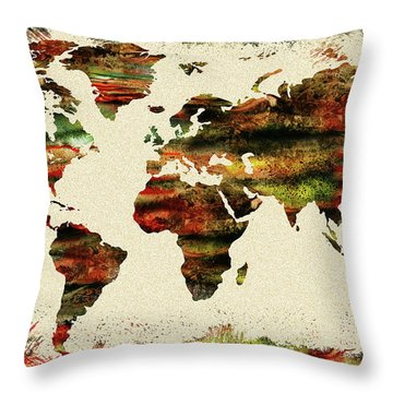 Earth And Color Throw Pillow