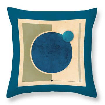 Earth And Moon Graphic Throw Pillow by Phil Perkins