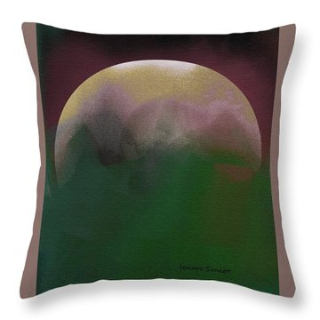 Earth And Moon Throw Pillow