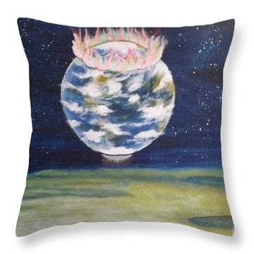 Earth Aura Throw Pillow