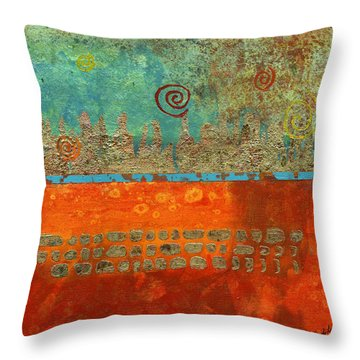 Earth Below Throw Pillow