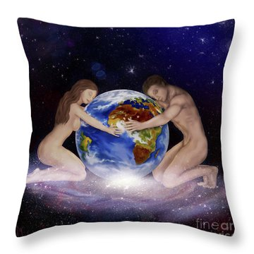 Earth Child Throw Pillow