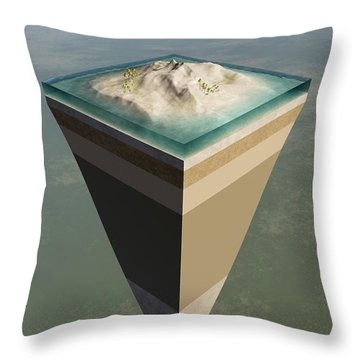 Earth Core Structure Cut-away Throw Pillow