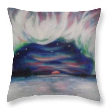 Earth Crown Throw Pillow