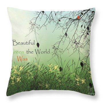 Earth Day 2016 Throw Pillow