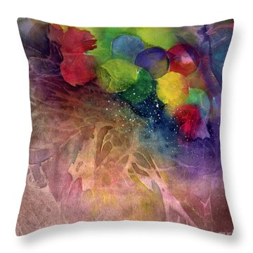 Earth Emerging Throw Pillow by Allison Ashton