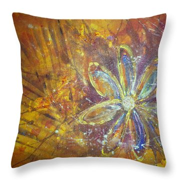 Earth Flower Throw Pillow