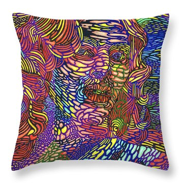 Earth Goddess Throw Pillow