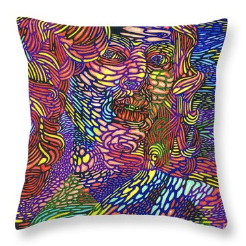 Earth Goddess Throw Pillow
