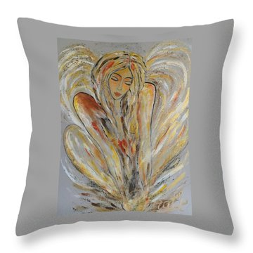 Earth Has Angels Far To Few And Heaven Is Overflowing.... Throw Pillow