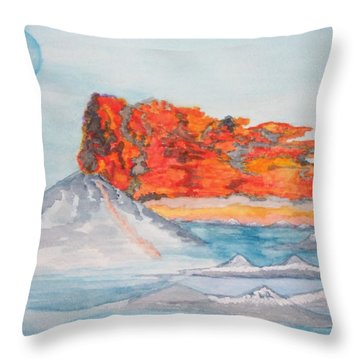 Throw Pillow featuring the painting Earth In Action by Connie Valasco