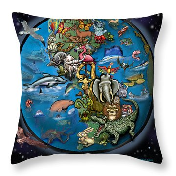 Throw Pillow featuring the painting Earth by Kevin Middleton