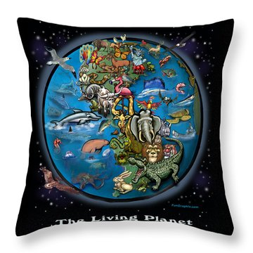 Earth Throw Pillow by Kevin Middleton