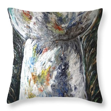 Earth Latte Stone Throw Pillow