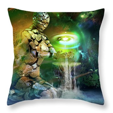 Earth Life Throw Pillow by Shadowlea Is
