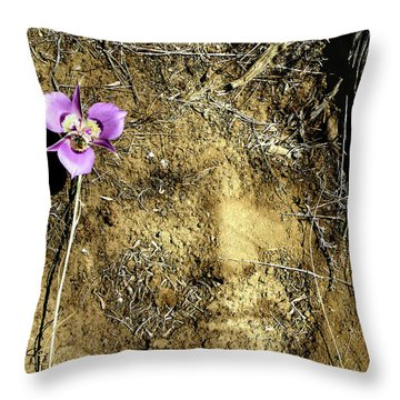 Throw Pillow featuring the photograph Earth Memories - Desert Flower # 2 by Ed Hall