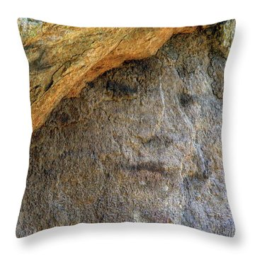 Throw Pillow featuring the photograph Earth Memories-stone # 4 by Ed Hall