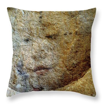 Throw Pillow featuring the photograph Earth Memories - Stone # 5 by Ed Hall