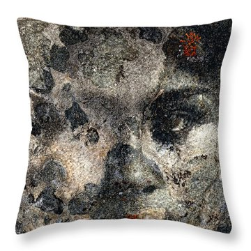 Throw Pillow featuring the photograph Earth Memories - Stone # 7 by Ed Hall