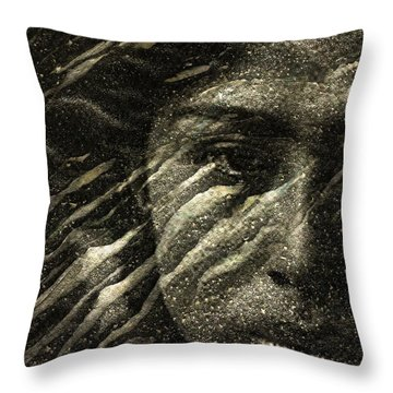 Throw Pillow featuring the photograph Earth Memories - Water Spirit by Ed Hall