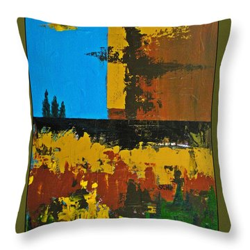 Earth Number Four Throw Pillow by Scott Haley